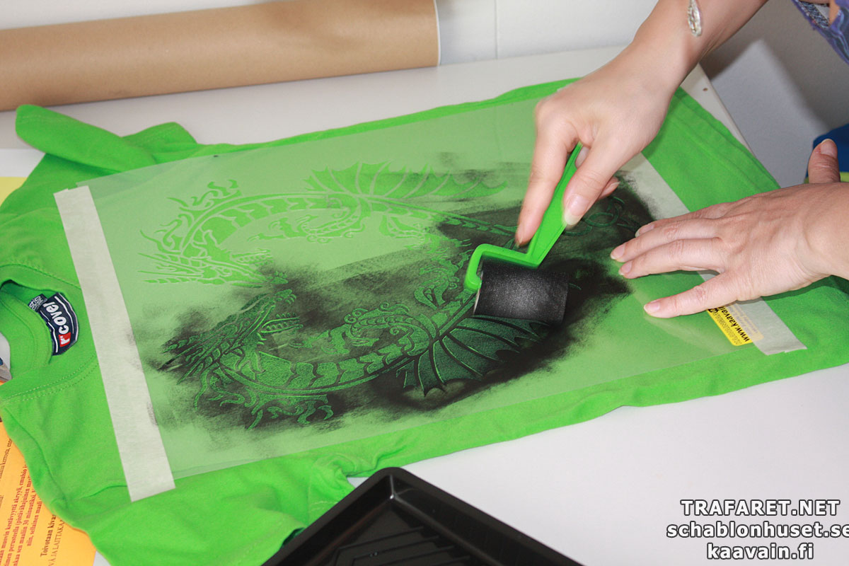 Роспись ткани по трафарету