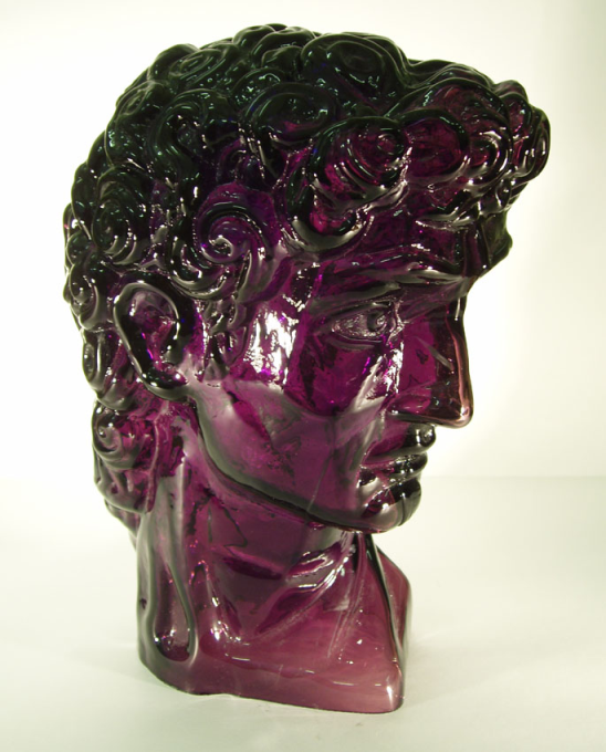 David's head, coloured glass, H-320 mm, W-4 kg.PNG