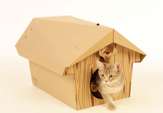 Домик для котика своими руками видео