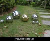 stainless steel garden ornament ball04
