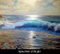 17 The sea Storm шторм 80-100 canvas-oil 2005.jpg